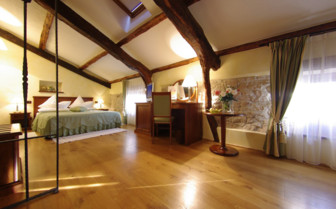 The tradition bedroom at San Rocco, luxury hotel in Croatia