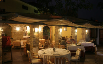 The restaurant terrace at San Rocco hotel