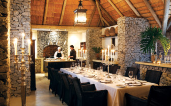 The dining room at Londolozi, luxury hotel in South Afica
