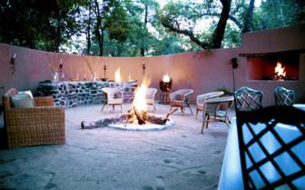 Bonfire at the Nottens Bush Camp