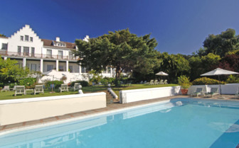 The pool at The Cellars- Hohenort, luxury hotel in Cape Town, South Africa