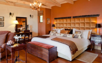 Large bedroom at Tintswalo Atlantic, luxury hotel in Cape Town, South Africa
