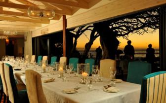 the main dining room at Tintswalo Atlantic hotel