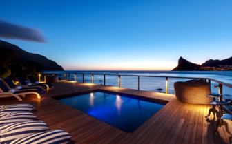the heated pool at Tintswalo Atlantic, luxury hotel in Cape Town South Africa