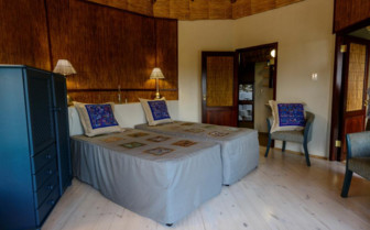 Deluxe twin bedroom at Thonga Beach Lodge, luxury hotel in South Africa
