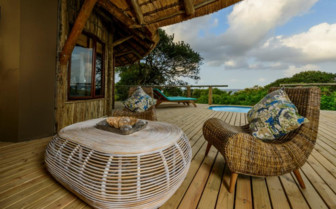 The patio lounge Thonga Beach Lodge