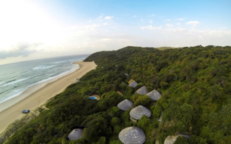 Aerial view of Thonga Beach Lodge, luxury hotel in South Africa