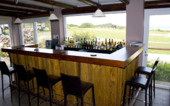 The bar at Oyster Bay Lodge, luxury hotel in South Africa