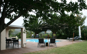 The pool at Oyster Bay Lodge
