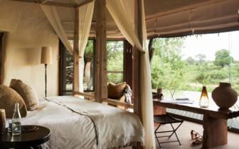 Suite interior at Singita Boulders