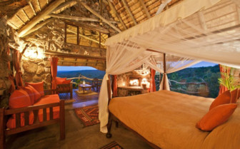 The cottage interior at Ants Nest, luxury safari camp in South Africa
