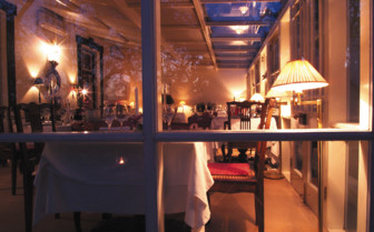 Dining at Bartholomeus Klip, luxury hotel in South Africa