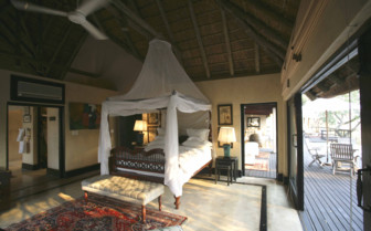 Bedroom at Royal Malewane, luxury hotel in South Africa