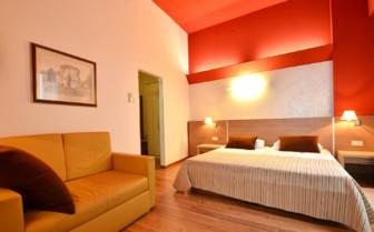 The bedroom interior at Hotel Kastel, luxury hotel in Croatia