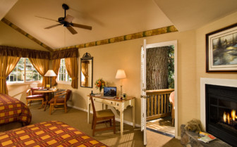 Double room at Tenaya Lodge, luxury hotel in the Great American Wilderness