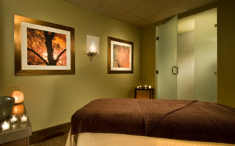 The spa treatment room at the hotel