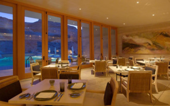 The dining room at the hotel
