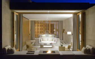 The desert lounge suite at Amangiri hotel