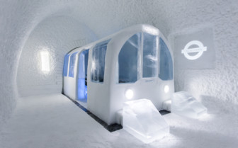 Ice tube station at Ice Hotel