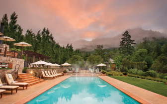The swimming pool at Calistoga Ranch, luxury hotel in Napa & Sonoma Valley