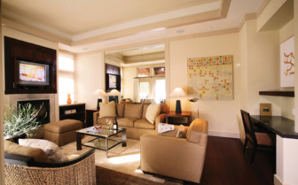 The indoor living room at Calistoga Ranch, luxury hotel in Napa & Sonoma Valley
