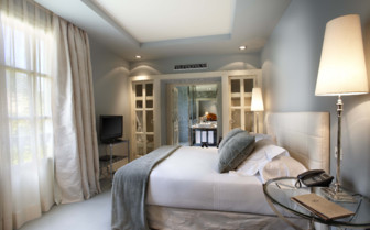 Bedroom at Hotel Iturregi, luxury hotel in Spain