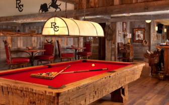 The billiard table at Ranch at Rock Creek, luxury hotel in the Great American Wilderness