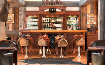 The bar with saddle seats
