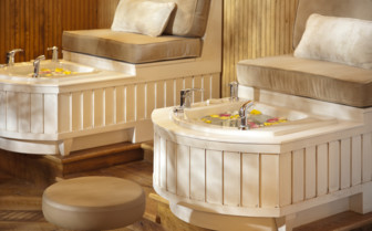 The hotels luxury spa at Ranch at Rock Creek
