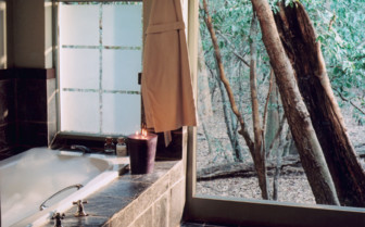 Bathroom at Phinda, luxury hotel in South Africa