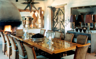 Dining at Phinda, luxury hotel in South Africa