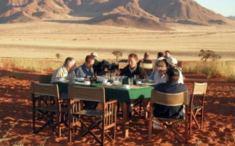 Lunch at Schoeneman Skeleton Coast Flying Safaris
