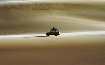 Desert drive at camp exterior