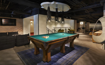 Billiard table at Hotel Zetta