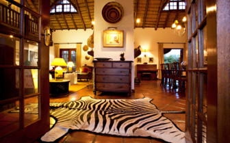 The hotel interior at Jembisa, luxury hotel in South Africa