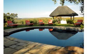 The swimming pool at Jembisa hotel