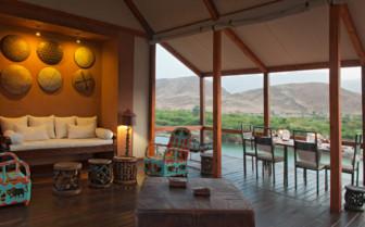 Balcony at Okahiringo River Camp, luxury camp in Namibia