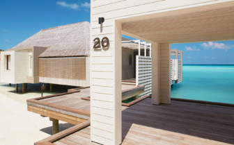 The water villas at Cheval Blanc Randheli, luxury hotel in the Maldives