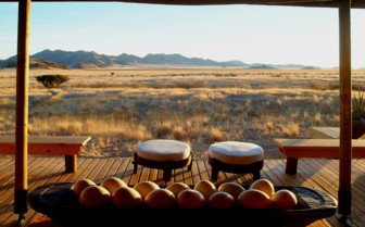 View from the lounge at the camp