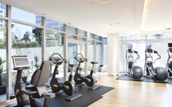 The fitness centre at the hotel