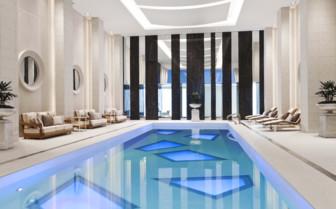 Indoor swimming pool at Rosewood Hotel Georgia