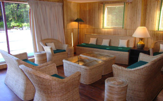 Seating area on the boat