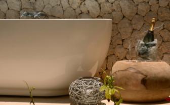 Bathroom at White Sand Luxury Villas, luxury hotel in Tanzania