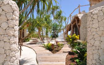 The view through the villas