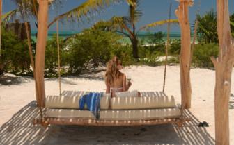 The beach at White Sand Luxury Villas, luxury hotel in Tanzania