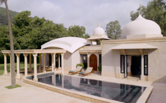 The pool pavilion at the hotel