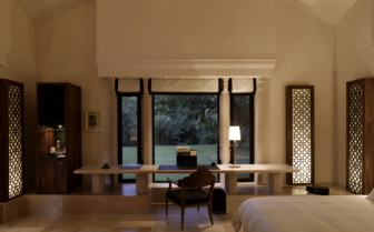 Pool pavillion suite at Amanbagh hotel