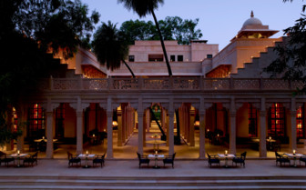 Terrace dining at Amanbagh