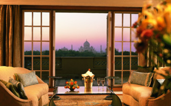 Suite Lounge Area at Oberoi Amarvilas, luxury hotel in India
