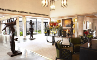 The spas main reception at the hotel